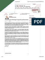 17-06-14 La Crónica de Hoy | Fórmula para desahogar la agenda parlamentaria