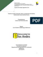 Diseño de redes de drenaje urbano comparación de diseños tradicionales versus diseños futuros.pdf