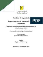 Modelación de Flujo Turbulento Hidráulicamente Liso en Tuberías Largas de PVC.pdf