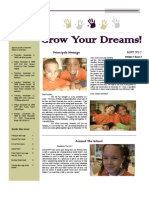 Grow Your Dreams Newsletter - November 2009