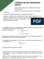 Teoría de La Colisión de Las Reacciones Monomoleculares