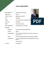 Form Data Mahasiswa