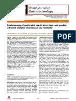 Epidemiologi Perforasi Gaster