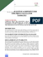 End User License - Smd Price Calculator v 1.0.1