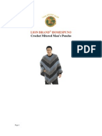 Lion Brand® Homespun® Crochet Mitered Man's Poncho