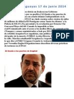 Noticias Uruguayas 17 de Junio 2014
