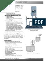 Automatic Fuel Oil Transfer Pump Set - Datasheet