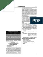 Resolución Comisión de Normalización y de Fiscalización de barreras comerciales no arancelarias N° 031-2013-CNB-INDECOPI. Aprueban Norma Técnica Peruana sobre calidad de agua.