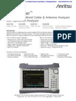 Anritsu S331E S332E S361E S362E Datasheet