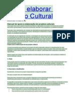Como Elaborar Projeto Cultural