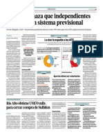 60% Rechaza Que Independientes Aporten a Un Sistema Previsional_El Comercio 17-06-2014