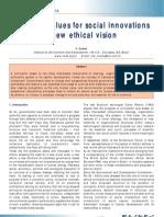 Universal Values for Social Innovations VITO COMAR
