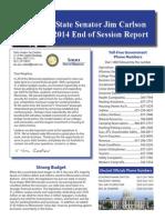 Senator Jim Carlson 2014 End of Session Report