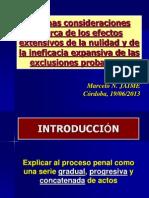 Clase Exclusiones Probatorias vs. Nulidad