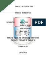 Modelo y Control Del Convertidor Estático de Frecuencia Enlace de Voltaje en Dc