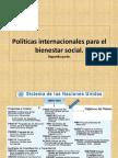 Políticas Internacionales de Bienestar Social 2.