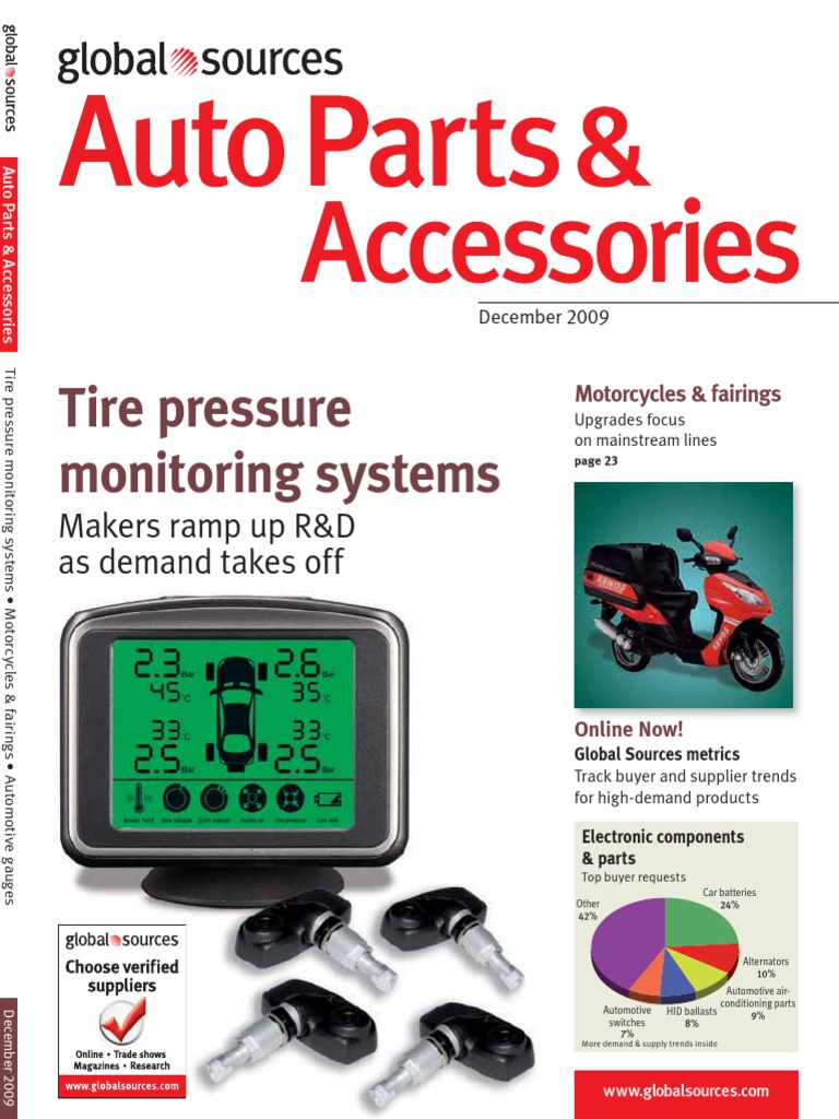 Tire pressure monitoring systems: Makers ramp up R&D as demand takes off