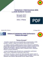 I dati del MeS sull'Asl 3 di Pistoia per il 2013