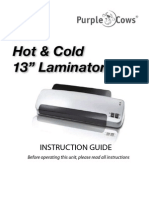 Purple Cows 13 inch Hot and Cold Laminator #3027 Instructions