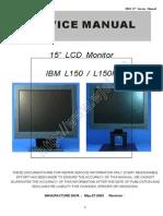"""Ibm l150, l150p 15"""" Lcd Monitor"""