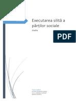 Executarea Silită a Părților Sociale
