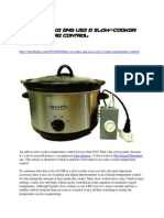 How to Make and Use a Slow-Cooker Temperature Controller