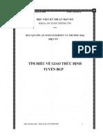 Tìm Hiểu Về Giao Thức Định Tuyến BGP - Luận Văn, Đồ Án, Đề Tài Tốt Nghiệp