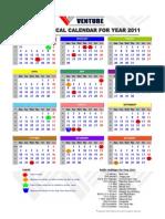 Venture Calendar 2011