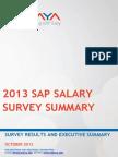 SAP Salary Survey 2013 NEW