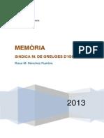 Memoria Sindicatura 2013