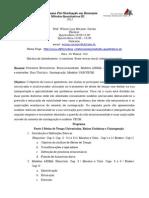 Ementa Métodos Quantitativos III