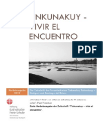 Tinkunakuy - Vivir El Encuentro. Herbstausgabe