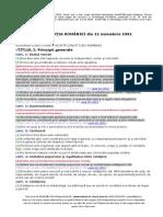 Constitutia Romaniei - Forma Sintetica