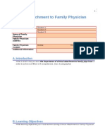 Clinical Attachment to Family Physician Report - Form 2003 Original