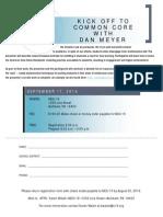Dan Meyer Registration Form
