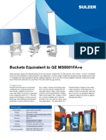 Buckets Equivalent to GE MS6001FA SULTZER 17 JUN