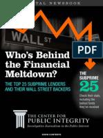 Cpi the Financial Meltdown