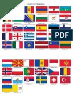CONTINENTE EUROPEO, Moneda Bandera Fecha de Independencia Poblacion Comida