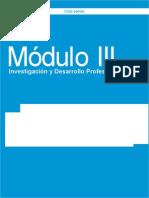 Módulo III Investigación y Desarrollo Profesional