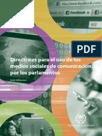 Directrices para el uso de los  medios sociales de comunicación  por los parlamentos