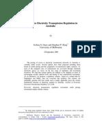 Options for Electricity Transmission Regulation in Australia