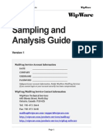 Sampling and Analysis Guide