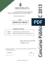 Assistente_social Prova Ufc 2013