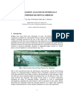 Finite Element Analysis of Externally Prestressed Segmental Bridges