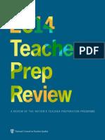 NCTQ 2014 Teacher Prep Report