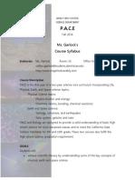 pace syllabus 2014