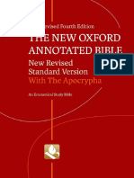 The New Oxford Annotated Bible With Apocrypha New Revised Standard Ver