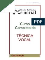 Curso Completo de Tecnica Vocal