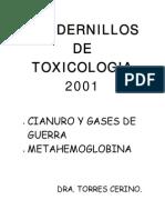Cianuro, Gases de Guerra y Metahemoglobina