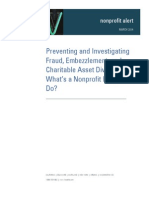 Preventing and Investigating Fraud Embezzlement and Charitable Asset Diversion